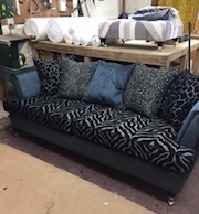 upholstery with animal print