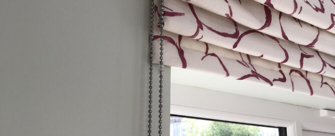 Cascade Roman Blind with chain