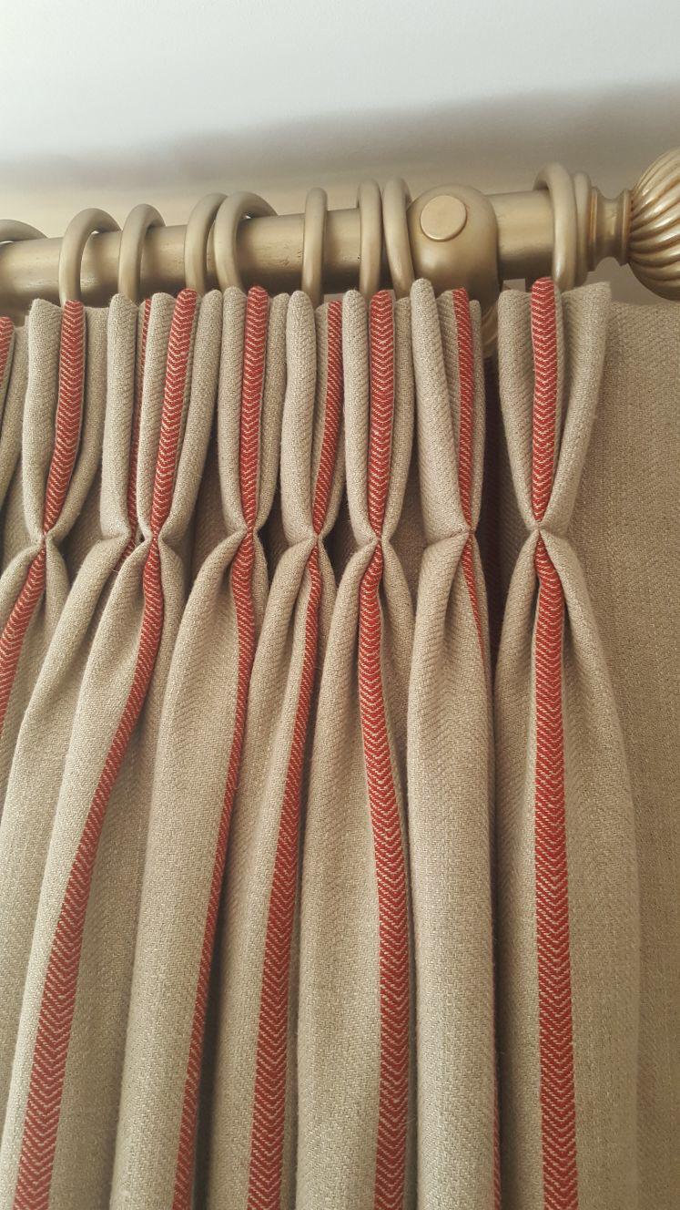 Triple pleated curtains