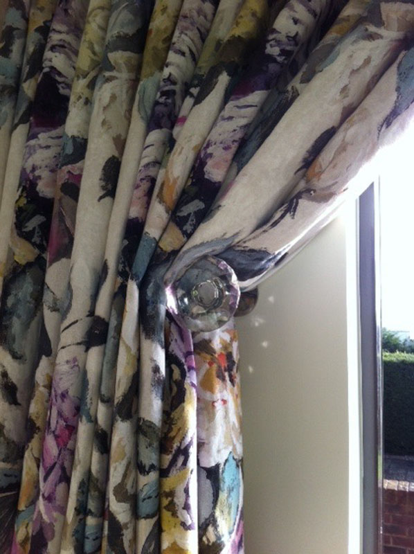 Crystal designer holdback curtains
