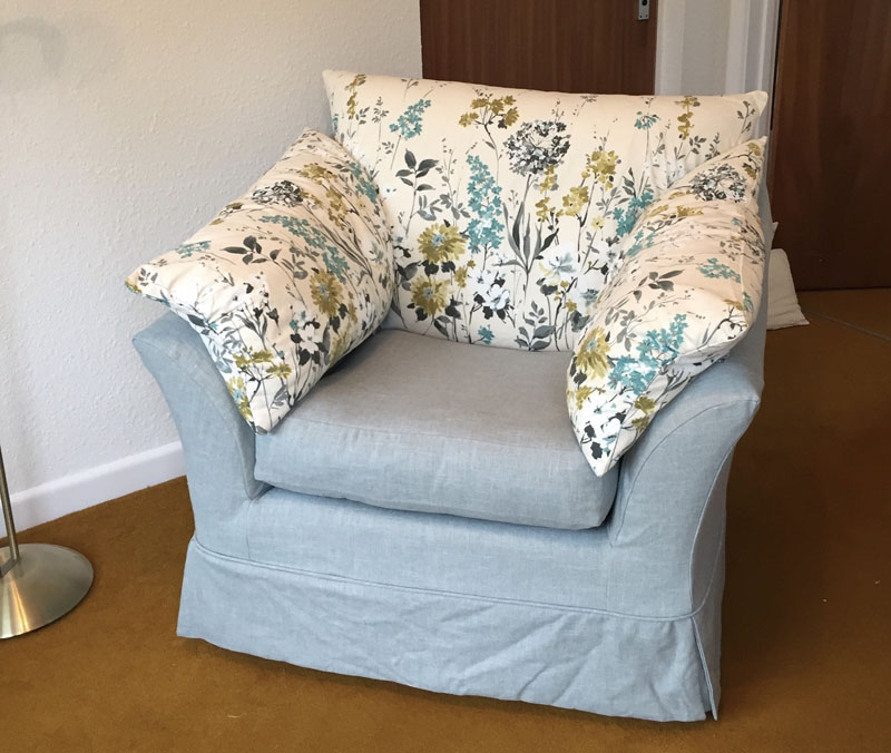 Loose covers for Armchairs - box cushions