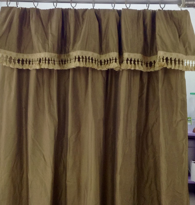 Flop top curtains silk trimming