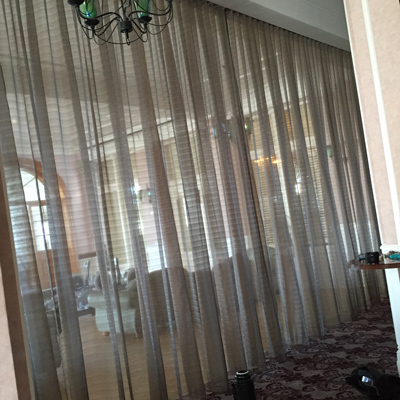 Hotel curtains and partitions