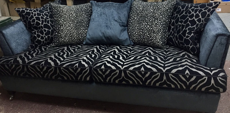 Sofa upholstery with animal print